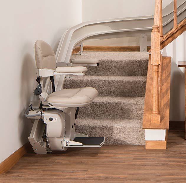 curved stair lift outdoor outside exterior liftchair stairchair